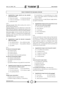2 TEMEL TIP BİLİMLERİ TESTİ AÇIKLAMALI CEVAPLAR 1