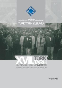 15-17 EYLÜL 2014 - Türk Tarih Kurumu