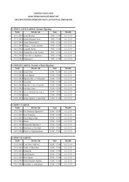 2014-2015 Güz Dönemi Final Sınav Programı_PDF