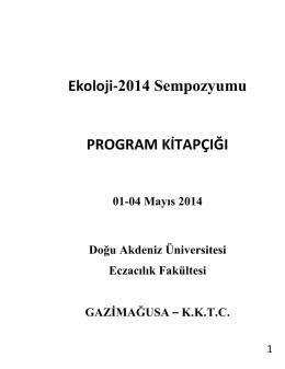 bilimsel program - Ekoloji | 2014