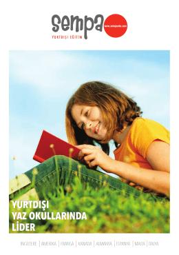 Katalog için tıklayınız - SEMPA Yurtdışı Eğitim