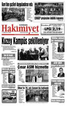 (21 kas\375m.qxd) - Çorum Hakimiyet Gazetesi