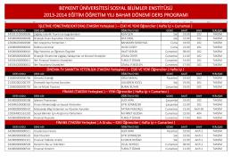 beykent üniversitesi sosyal bilimler enstitüsü 2013