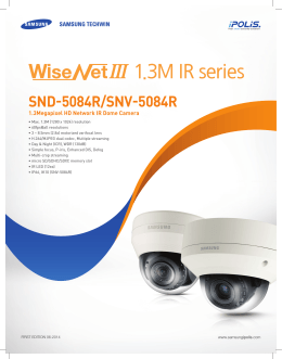 1.3M IR series - Samsung Techwin UK