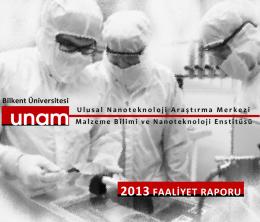 UNAM 2013 Faaliyet Raporu