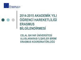 Giden Ögrenci Bilgilendirme Sunumu 2014 - cbü