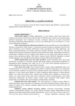 C.Savcıları İş Bölümü Cetveli
