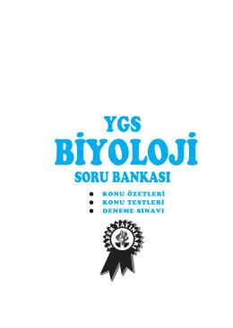 YGS biyoloji S.B - Zafer Yayınları