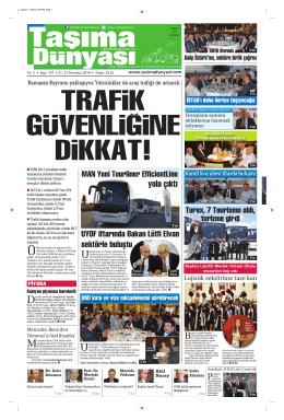 Taşıma Dünyası Gazetesi-147-PDF 21 Temmuz 2014 tarihli sayısını