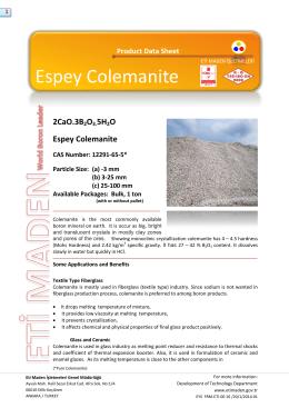 Espey Colemanite - Eti Maden İşletmeleri