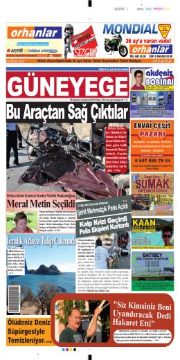 20 Ağustos 2014 - Güney Ege Gazetesi