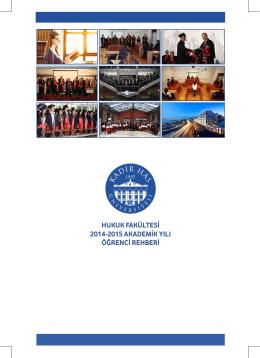 Hukuk Fakültesi 2014-2015 Öğrenci El Kitabı