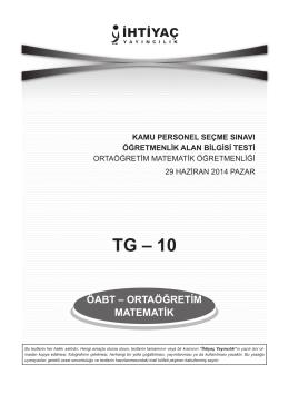 Ortaöğretim Matematik 10