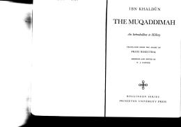 Ibn Khaldun Muqaddimah chpt 6