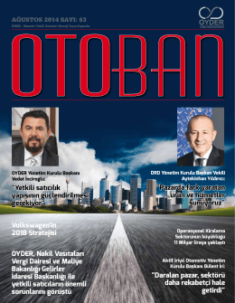 Otoban Dergisi   Sayı 63 Ağustos 201401.10.2014