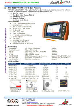 Shinewaytech MTP-1000 | OTDR Test Platformu