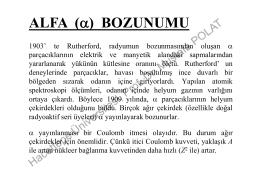 ALFA (α) BOZUNUMU ( )