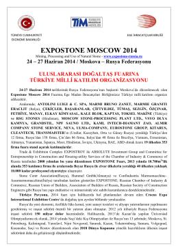 Expostone Moscow 2014 - Ege İhracatçı Birlikleri