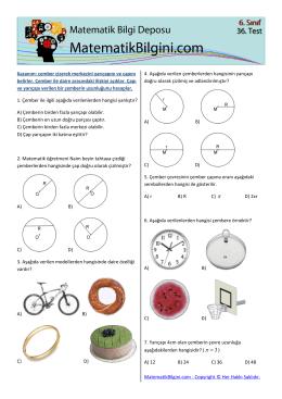 Kazanım: çember çizerek merkezini yarıçapını ve çapını belirler