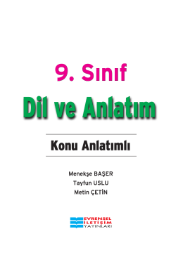 9 Dil ve Anlatım Konu PDF
