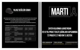 martı dergisi - Zafer Kalkınma Ajansı
