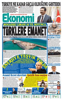 23 eylül 2014 - Ekonomi Gazetesi