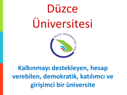 S - Düzce Üniversitesi