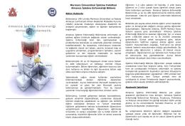 Marmara Üniversitesi İşletme Fakültesi Almanca İşletme Enformatiği