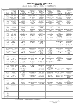 2013-2014 bahar yarılı ders programı ilahiyat ı. öğretim