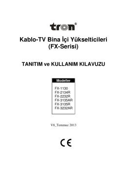 Kablo-TV Bina çi Yükselticileri (FX-Serisi)