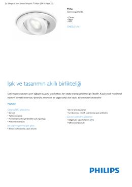 Product Leaflet: Carnet beyaz LED Gömme spot lamba