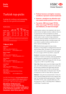 Turkish top-picks-Looking for resilience and outstanding