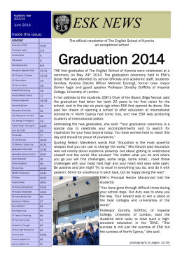 Graduation 2014 ESK NEWS - The English School of Kyrenia.