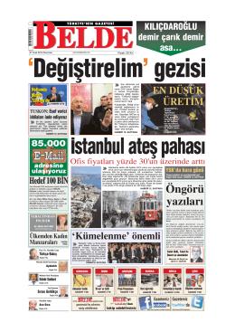 Öngörü yaz›lar› - Belde Gazetesi