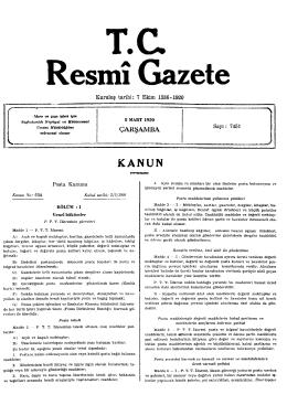 ÇARŞAMBA - Resmi Gazete
