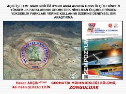 Slayt 1 - Geomatik Mühendisliği Bölümü