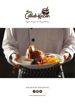 Çatlak Kazan Cafe Bistro Katalog