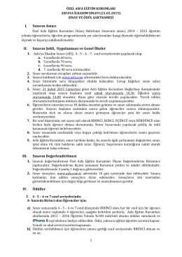 Şartname - ASFA Eğitim Kurumları