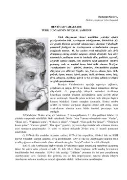 Ramazan Qafarlı, Doktor-professor (Azerbaycan