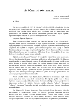 Din Öğretimi Yöntemleri / Prof. Dr. Suat CEBECİ