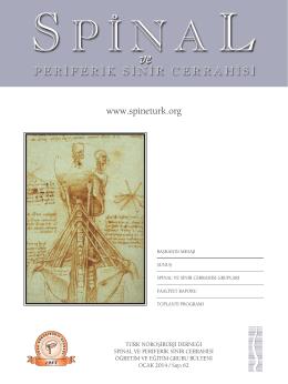 Ocak 2014 - Türk Nöroşirurji Derneği Spinal ve Periferik Sinir