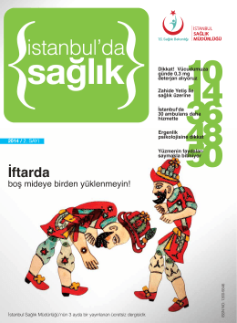 İftarda - İstanbul İl Sağlık Müdürlüğü