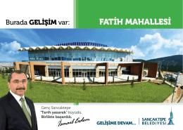 Fatİh MahaLLESİ - Sancaktepe Belediyesi
