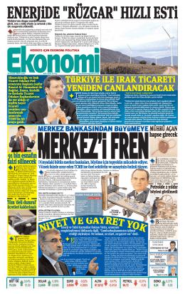 26 eylül 2014 - Ekonomi Gazetesi