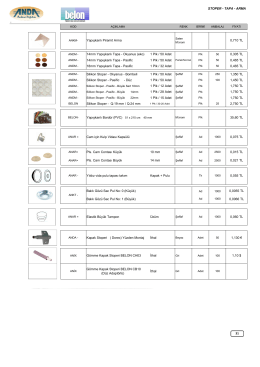 STOPER - TAPA - ARMA 1,130 € 0,015 TL Elastik Büyük Tampon