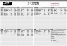 MAC Bebeköy ders programı