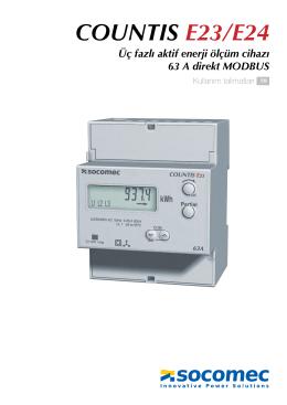 COUNTIS E23/E24 Üç fazlı aktif enerji ölçüm cihazı 63 A direkt