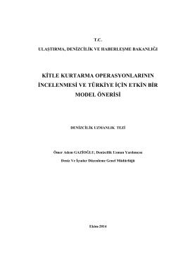 Ömer Adem GAZİOĞLU-Kitle Kurtarma Operasyonlarının