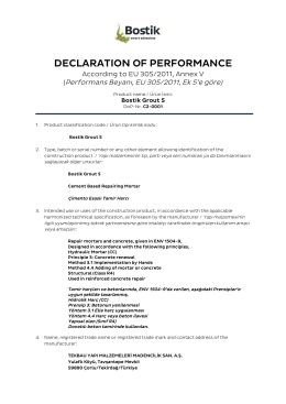declaratıon of performance
