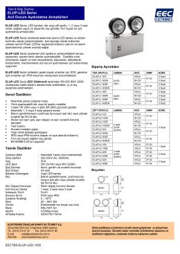 ELUP-LED Serisi Acil Durum Aydınlatma Armatürleri